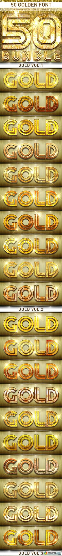 50 Golden Font_Bundle
