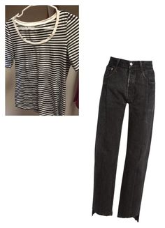 """""""Casual striped tee"""" by amy-flannery-skaar on Polyvore featuring Vetements"""