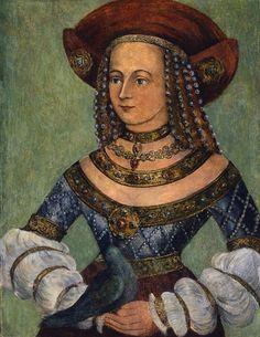 Bildnis der Herzogin Hedwig (Jadwiga) by unknown artist, probably 16th century (windypoplarsroom)