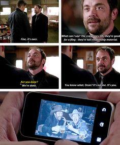 [gifset] 10x02 Reichenbach #SPN #Dean #DemonDean #Crowley