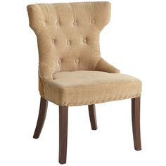 Office Chair, front office, conference room. Hourglass Dining Chair - Gold Damask