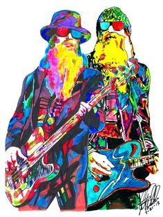 Kid Rock Singer Guitar Pop Music Poster on Mercari Billy Gibbons, Zz Top, Rock Posters, Concert Posters, Blues Rock, Pop Art, Top Singer, Leroy Neiman, Kid Rock