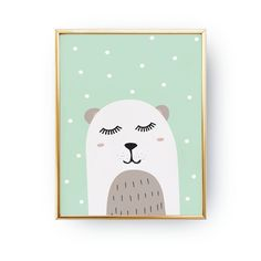 Bear Print, Bear Illustration, Bear Kids Poster, Baby Girl, Nursery Decor, Bear Poster, Nursery Art, Kids Room Decor, Illustration Art Print. Every poster is designed with love by us. We print our works with high quality inks and premium paper.