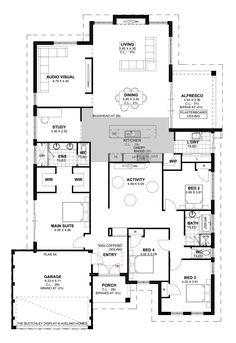 Floor Plan Friday: Study, home cinema, activity room