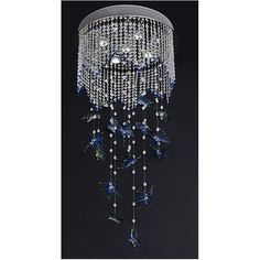 hanging chandelier   butterfly crystal hanging chandelier