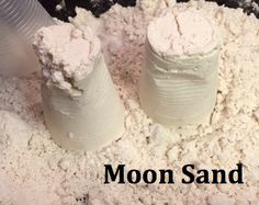 Making your own moon sand is an easy and fun science project kids will love!  Add different colors or add any scents you might want. You can use essential oils like vanilla or peppermint to give your moon sand a nice smell. Now it's time to play! You can mold your moon sand into all kinds of shapes, or just let the feel of it calm and relax you.