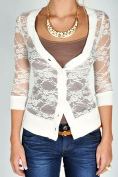 Lacey cardigan! - Repinly Womens Fashion Popular Pins. Love to have one of this