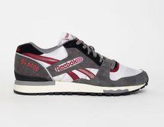 #Reebok GL6000 Grey Burgundy #sneakers