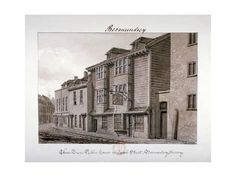 Giclee Print: View of the Three Tuns Public House on Jacob Street, Bermondsey, London, 1828 by John Chessell Buckler : Victorian London, Vintage London, Old London, English Architecture, London History, London Pubs, Slums, London Photos, Old Buildings