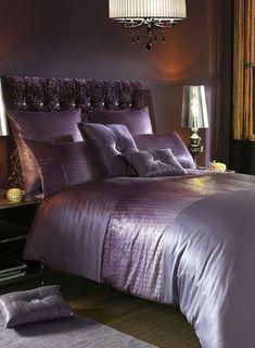 Kylie at Home Sienna Amethyst Bed Linen Purple Bedding Sets, Luxury Bedding Sets, Comforter Sets, King Comforter, Black Bed Linen, Bedding Inspiration, Bed Linen Design, Bed Linen Sets, Affordable Bedding