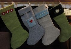 wool and sweater stockings. CUTE!