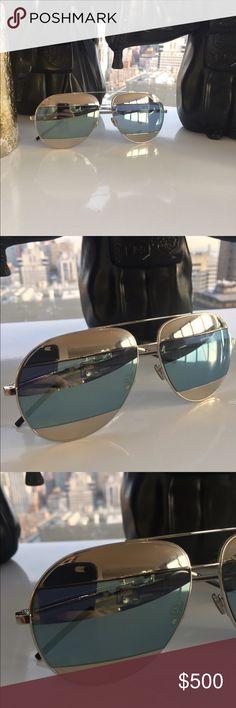 f1587e89967d46 100% Authentic Dior Split Sunglasses Silver Blue