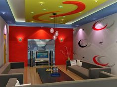 Delle Blog Drawing Room Ceiling Design, Bedroom False Ceiling Design, Bedroom Ceiling, Karaoke, Bar, Home Theater Design, Pop Design, Kids Bedroom, My House