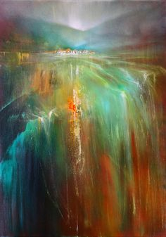 Annette Scmucker - painting of a abstract landscape