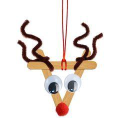 Renne de Noël en bâtons esquimaux - Tête à modeler