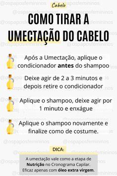 A Umectação é uma etapa muito importante no cronograma capilar. Podendo valer como uma etapa de Nutrição, super indicado para cabelos ressecados e cachos ressecados. Receita rápida e fácil de como tirar a umectação do cabelo. #cabelo #cronogramacapilar #dicas #cachos #cacheadas #óleo #dicasdemulher #cabelocacheado #cabeloressecado #umectação #cachosressecados #beleza Natural Hair Tips 4c, Curly Hair Tips, Hair Care Tips, Curly Hair Styles, Natural Hair Styles, Beauty Care Routine, Beauty Hacks, Afro Hair Care, Bad Hair Day