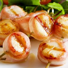 These might just be the best bacon wrapped scallops you will taste. Made with a little maple syrup and barbecue sauce for good measure.. Best Bacon Wrapped Scallops Recipe from Grandmothers Kitchen.