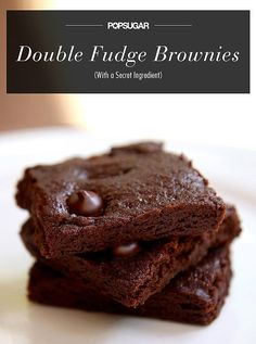 Vegan Double Fudge Brownies With a Secret Ingredient 1 cup whole-wheat flour 1 cup raw sugar 1/2 cup unsweetened cocoa powder 1/2 teaspoon baking powder 1/2 teaspoon salt 1 small zucchini 1/2 cup extra-virgin olive oil 1 teaspoon pure vanilla extract 1/4 cup vegan dark chocolate chips