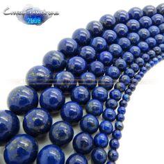 4mm-6mm-8mm-10mm-12mm-14mm-Round-Lapis-Lazuli-Gemstone-Loose-Beads-15-5-For-DIY 14mm-8.17