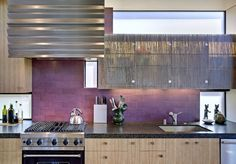 Modern Kitchen Decor With A Rustic Design, Purple Wall Chimney Fitted Beige Brown Kitchen Cabinets Sink Stove And Vent The Glass Modern Rustic Kitchen Design Interior Kitchen Themes, Kitchen Colors, Kitchen Decor, Wooden Kitchen, Kitchen Ideas, Rustic Kitchen, Kitchen Photos, Kitchen Furniture, Beach House Kitchens