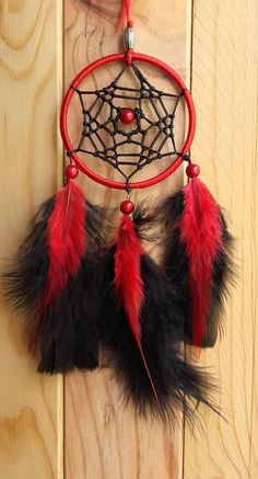 Black and Red DREAMCATCHER dream catcher