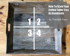 Styling a coffee table tray