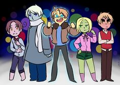 "Crossover between ""Hetalia"" and ""Inside Out"" - Art by kallenart.tumblr.com"