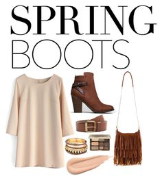 Spring Boots by foreverfashionfever101 on Polyvore featuring polyvore, fashion, style, Chicwish, Breckelle's, MANGO and Too Faced Cosmetics
