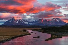 Magical Patagonia by Jean-FrancoisChaubard sky water Sunrise Clouds Torres del Paine Reflection Moutain Patanogia Magical Patagonia Jean-Franco Mount Rainier National Park, Banff National Park, National Parks, Sunset Photography, Landscape Photography, Travel Photography, Patagonia, Torres Del Paine National Park, Beautiful Sunrise