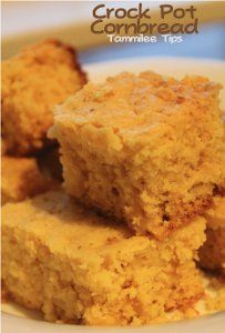 "Simple Cornbread Recipe for Slow Cooker - Slow cooker ""baking"" is fun and easy with this slow cooker side dish recipe. This easy cornbread recipe won't disappoint and is super moist!"