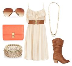 """""""Sweet Summertime."""" by sbigg11 ❤ liked on Polyvore featuring Dorothy Perkins, Wallis, Forever 21, Monsoon, MANGO, aviator sunglasses, coral, spring, clutches and dress"""