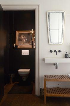 Home Renovation // Black Lavatory // Painted Tiles