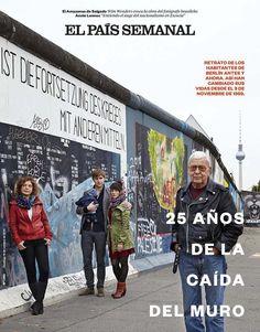 Portada de 19 octubre 2014 #ElPaís. 25 años de la caída del Muro del Berlín