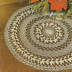 Free Crochet - Wreath of Victory Doily Pattern More