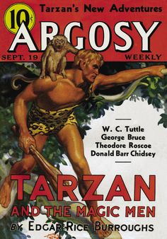 Argosy, Sept. 19, 1936. Tarzan cover art by Hubert Rogers.