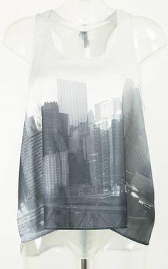 Shirt mit Skyline Gr. 38