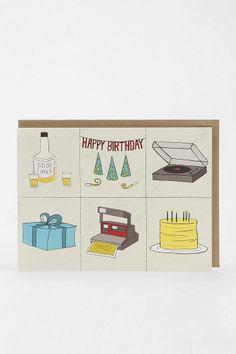 The Found Grid Birthday Card