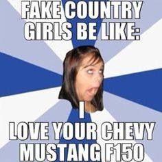 Fake country girls
