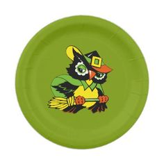 Funny Owl Halloween Party Paper Plates - home gifts ideas decor special unique custom individual customized individualized