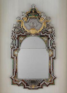 Mirror:  Silver by Johann Valentin Gevers  (German, ca. 1662–1737)