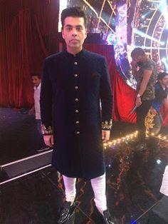 Karan Johar wearing Manish Malhotra for jhalak Dhikla Ja Karan Johar, L Shaped Sofa, Manish Malhotra, Bollywood News, Chef Jackets, Cool Photos, How To Wear, Collection, Fashion