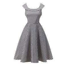 Floral Print Women's Dress 50s 60s Vintage A-Line Party Sundress
