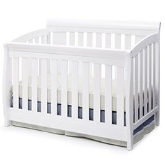 Delta Children Clermont Convertible Baby Crib, White - Just what I needed and works great.This Delta Children that is ranked 40101 in the list of the top White Baby Cribs, Best Baby Cribs, Best Crib, Baby Bedroom, Baby Boy Rooms, Baby Room Decor, Kids Bedroom, Nursery Decor, Kids Table And Chairs