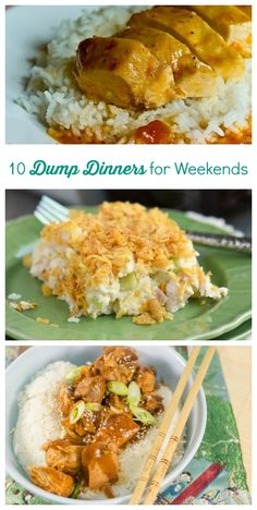 10 Dump Dinners for Weekends | These dump and go dinner recipes are so easy! They make for the perfect comfort food.