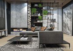 Elegant Residence With A Contrast In Tbilisi On Behance Stilvolle Wohnzimmer, Weber  Haus, Modernes Wohnen
