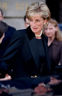 Diana The Princess Of Wales Attends A Memorial Service For Terence Donovan In London