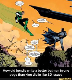 How did bendis write a better batman in one page than king did in like 80 issues - How did bendis write a better batman in one page than king did in like 80 issues - iFunny :) Im Batman, Marvel Dc Comics, Best Dc Comics, Funny Batman, Gotham Batman, Batman Art, Batman Robin, Nightwing, Batgirl