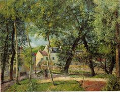 カミーユ・ピサロ Camille Pissarro : Paysage à Eragny : Dallas Museum of Art