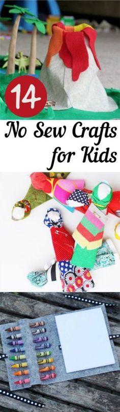 Crafts for Kids, No Sew Crafts For Kids, Craft Ideas for Kids, Kid Activities, Easy Crafts for Kids, Easy Activities for Kids, Kid Activites, Popular Pin