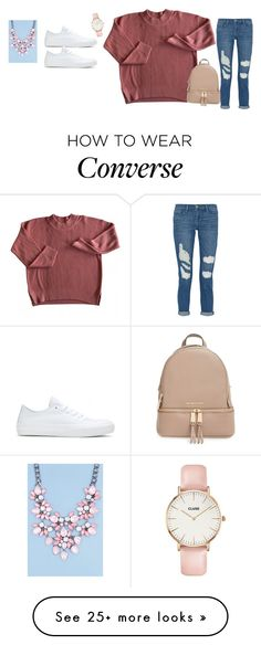 """Bez tytułu #3430"" by fotd97 on Polyvore featuring Frame Denim, Converse, CLUSE, Boohoo and MICHAEL Michael Kors"